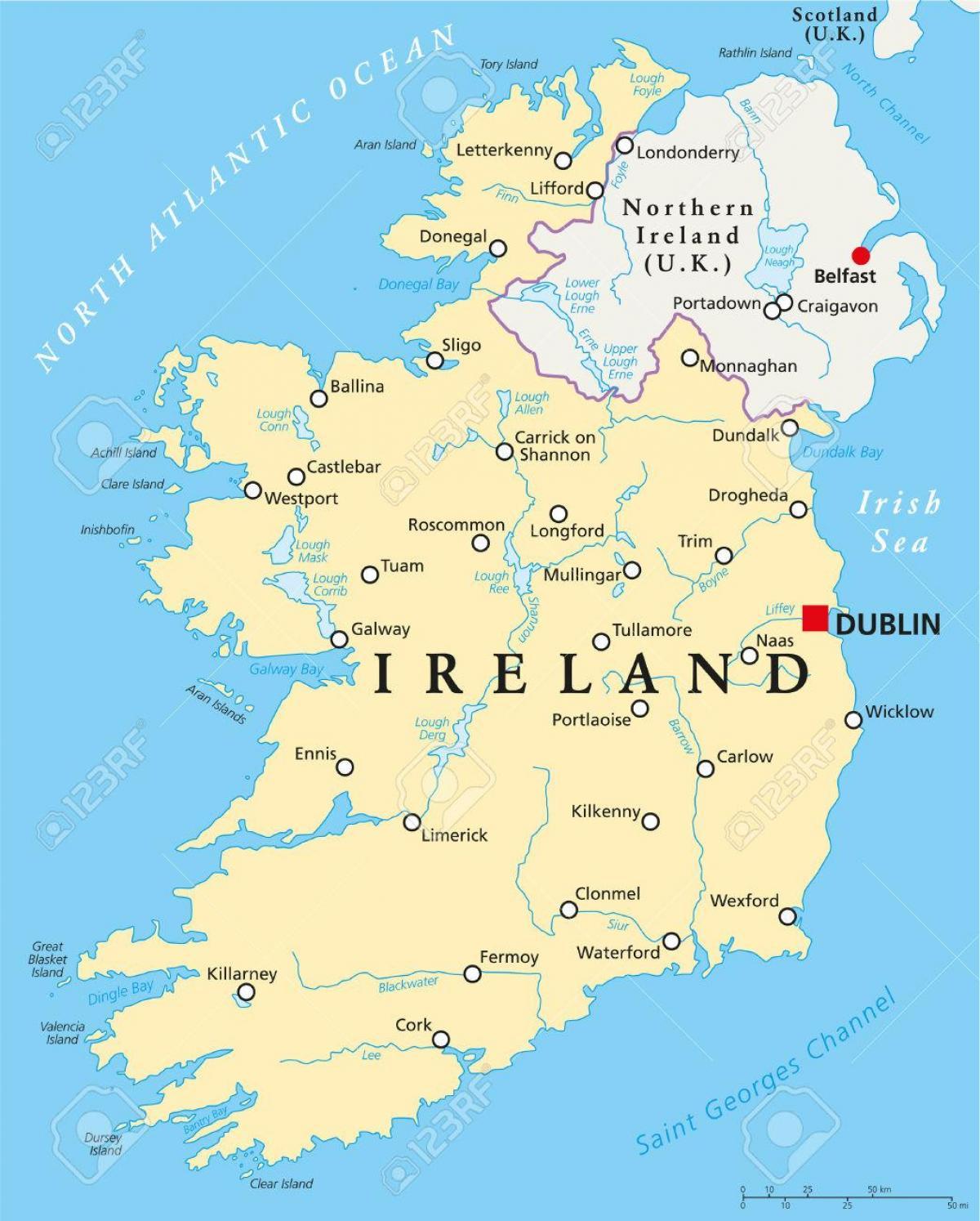 kart irland Dublin, irland map   Dublin kart irland (Ireland) kart irland