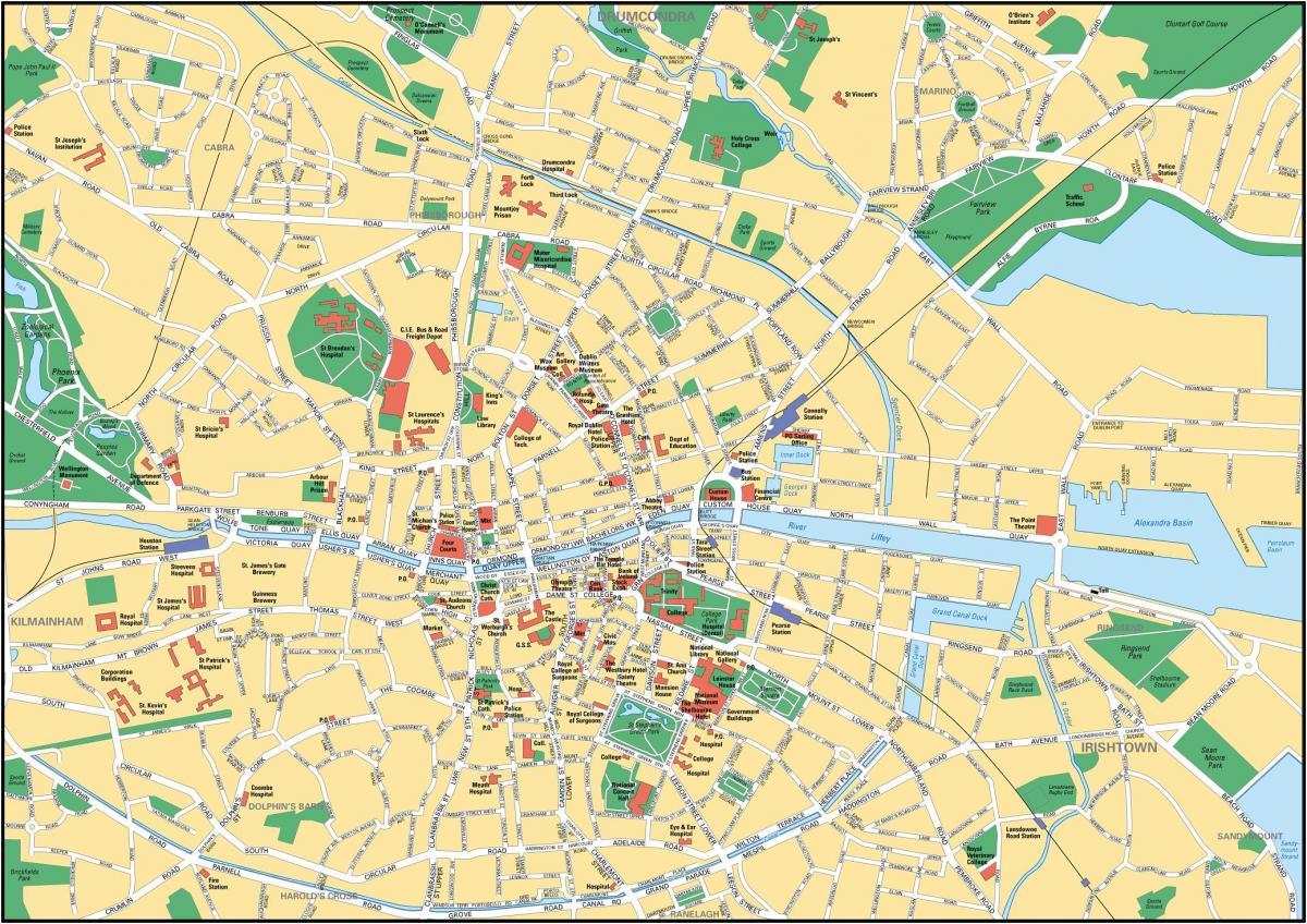 dublin sentrum kart Dublin kart   Kart Dublin (Irland) dublin sentrum kart