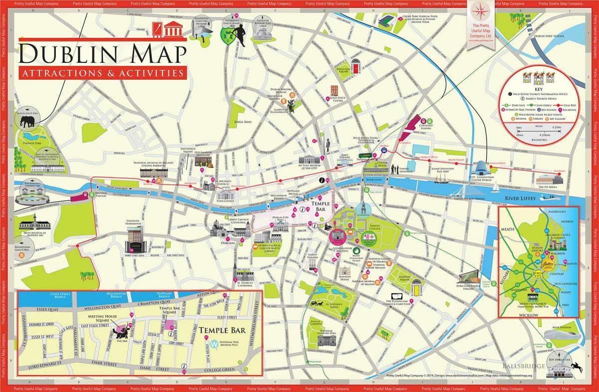 dublin sentrum kart Kart over Dublin city centre   Dublin sentrum kart (Irland) dublin sentrum kart